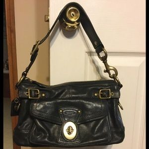 Authentic Coach All Leather Shoulder bag